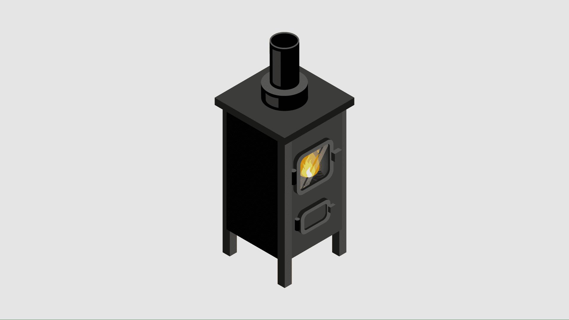 a campervan wood burning stove