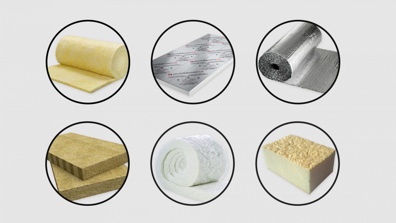 Common campervan insulation materials.