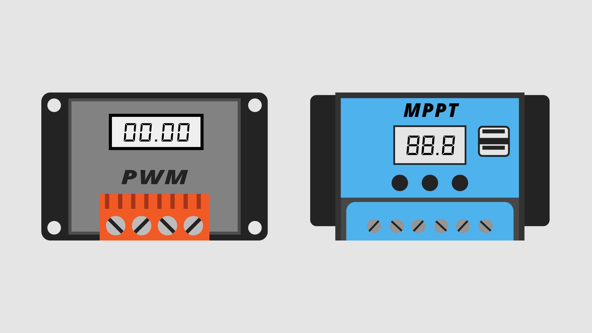 PWM Solar Controller & MPPT Solar Controller