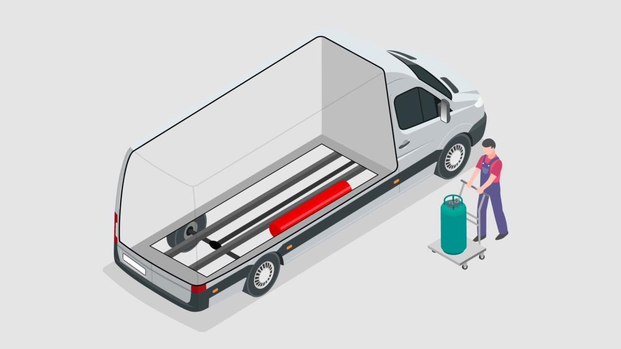 campervan gas storage system