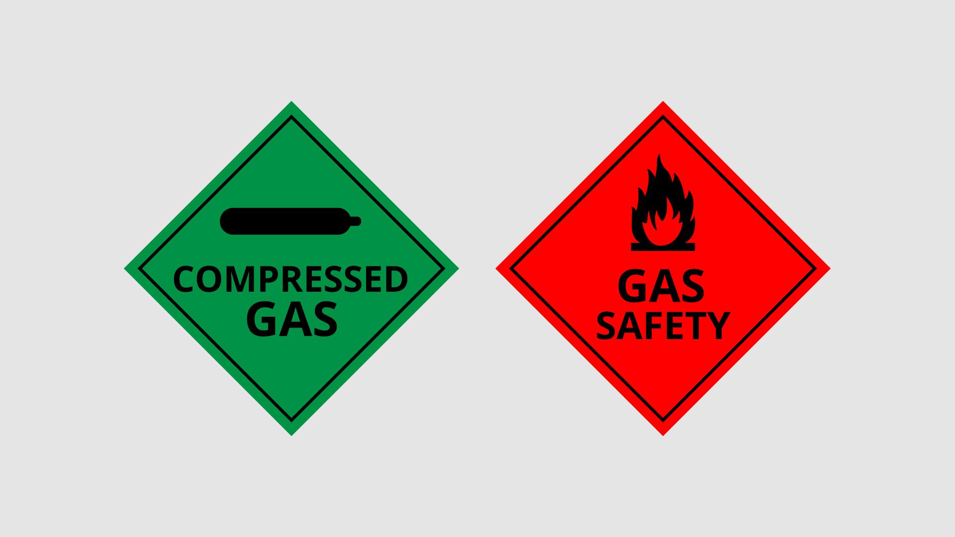 campervan lpg gas saftey stickers