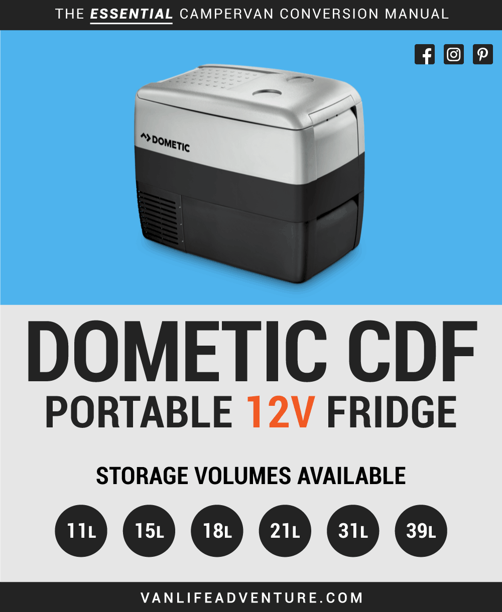Dometic CDF Fridge for a Campervan, RV, Motorhome or Campervan.
