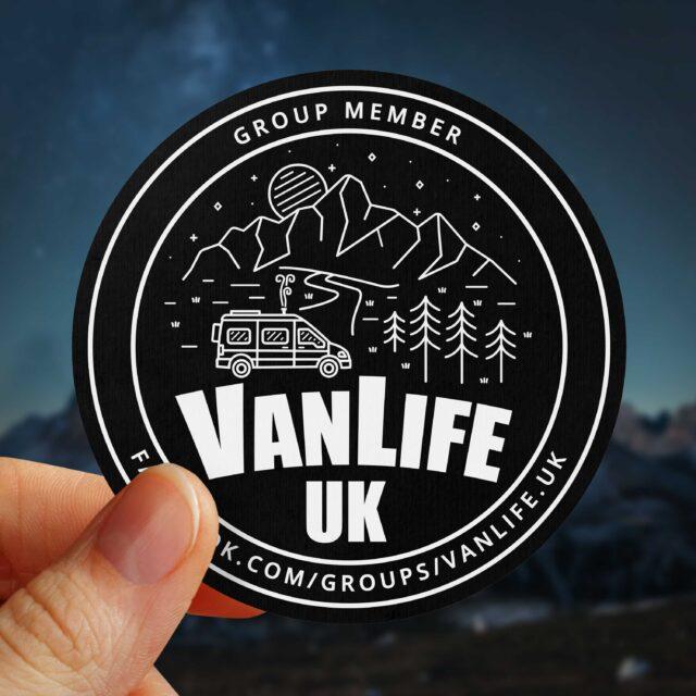 VanLife UK Sticker Decal Campervan Camper Facebook Group