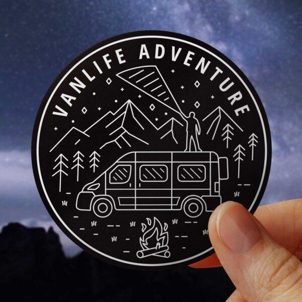 VanLife Adventure Roaming Wild Sticker Decal