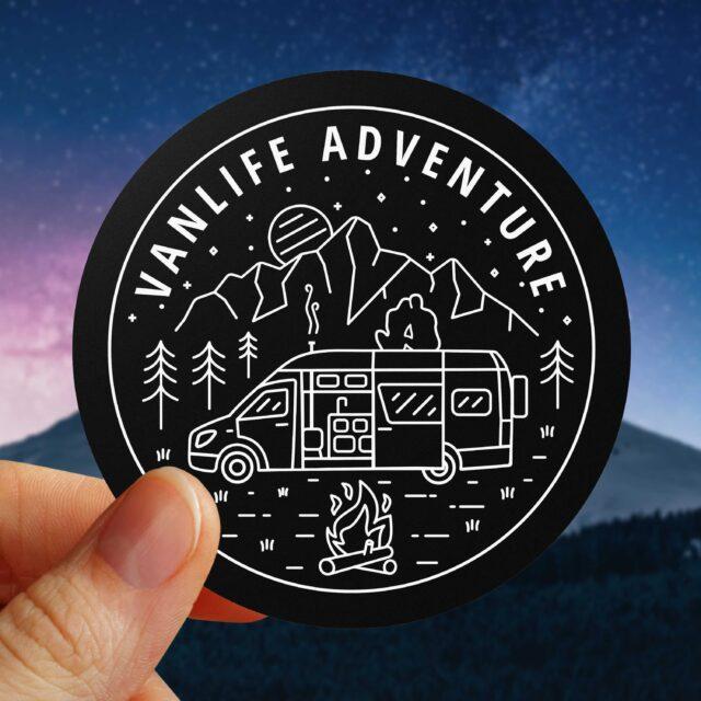 VanLife Adventure Sticker Campervan
